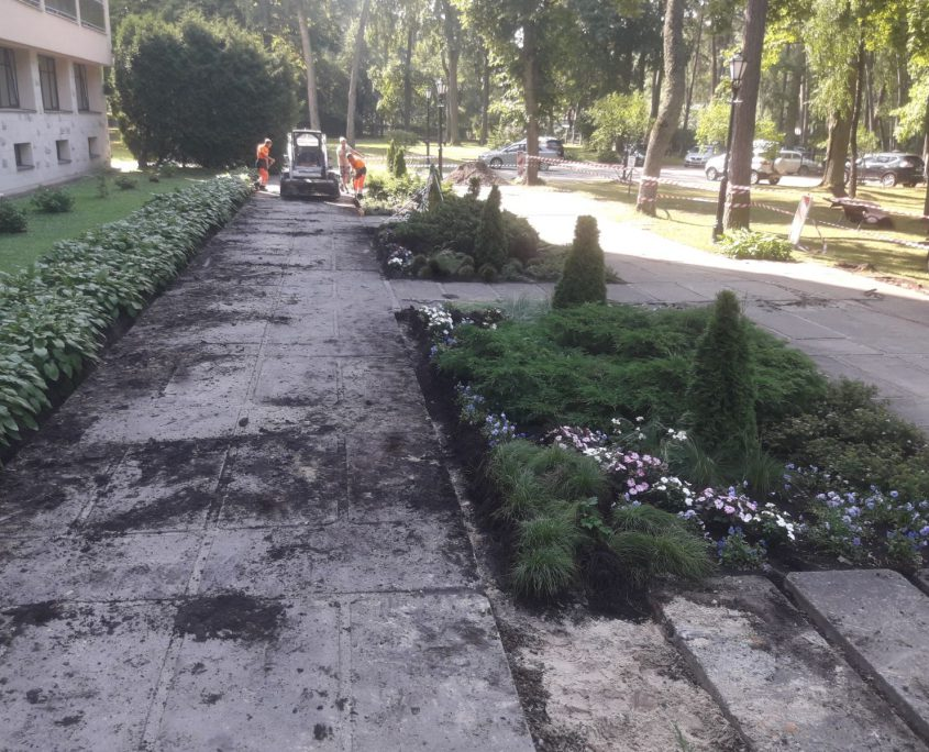 Bruģēšana. Sanatorija 'Belorusija'. Jūrmala